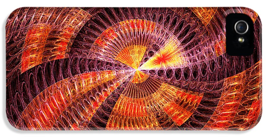 Abstract IPhone 5 Case featuring the digital art Fractal - Abstract - The Constant by Mike Savad