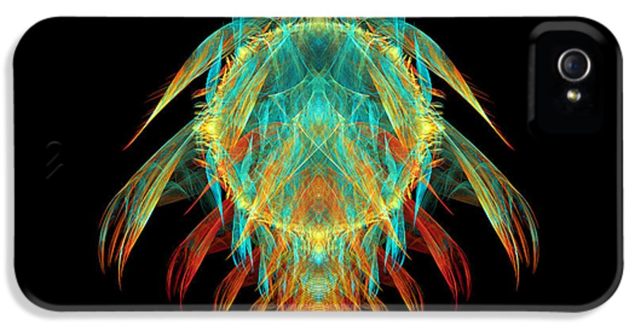 Fractal IPhone 5 Case featuring the digital art Fractal - Insect - I Found It In My Cereal by Mike Savad