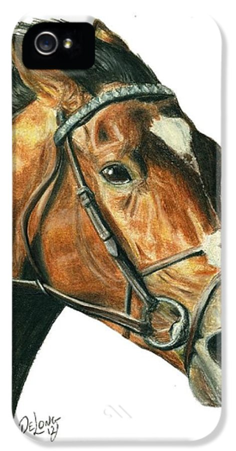 Frankel IPhone 5 Case featuring the painting Frankel by Pat DeLong