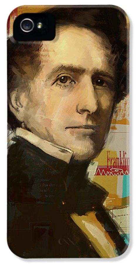 John Tyler IPhone 5 Case featuring the painting Franklin Pierce by Corporate Art Task Force