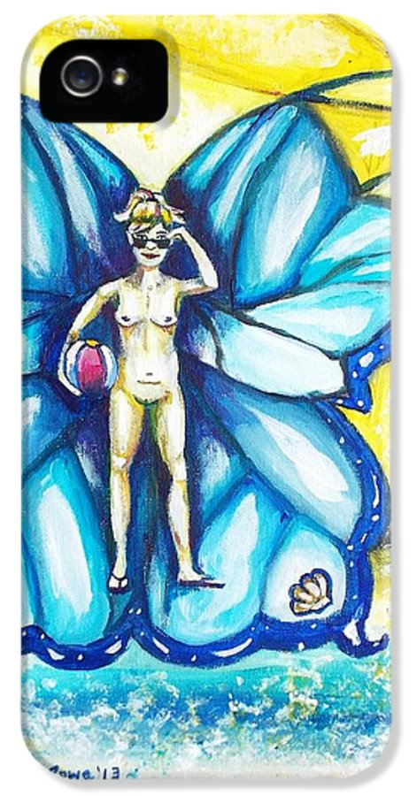 Fairy IPhone 5 Case featuring the painting Free As Summer Sun by Shana Rowe Jackson