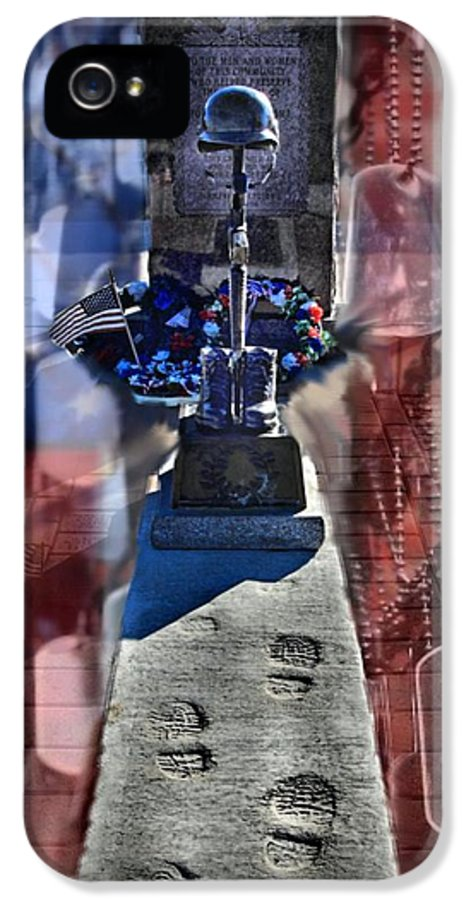 Dog Tag IPhone 5 Case featuring the photograph Freedom Ain't Free by DJ Florek