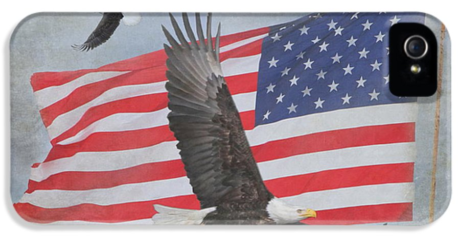 Freedom IPhone 5 Case featuring the photograph Freedom Flight by Angie Vogel