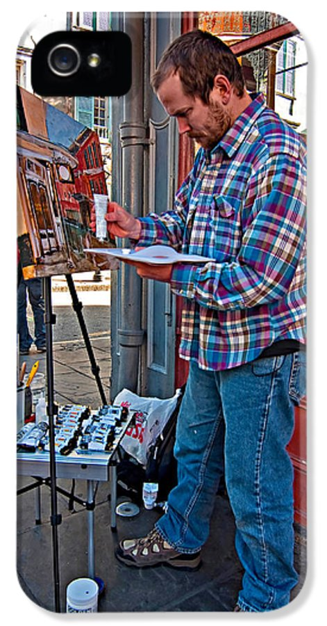French Quarter IPhone 5 Case featuring the photograph French Quarter Artist by Steve Harrington