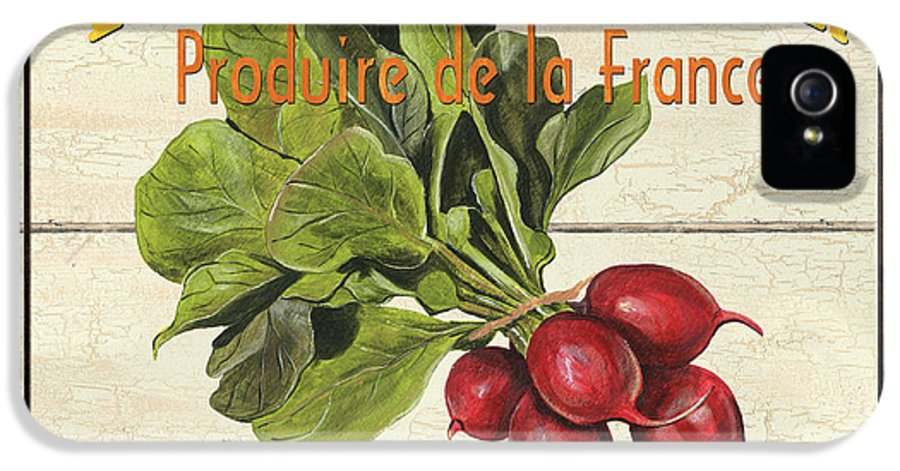 Radishes IPhone 5 Case featuring the painting French Vegetable Sign 1 by Debbie DeWitt