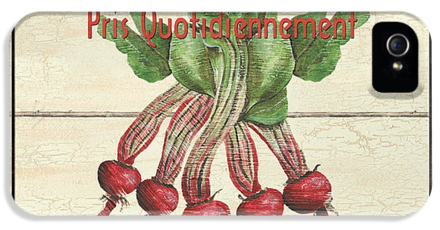 Beets IPhone 5 Case featuring the painting French Vegetable Sign 4 by Debbie DeWitt