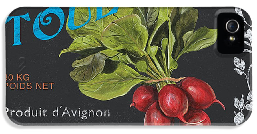 Produce IPhone 5 Case featuring the painting French Veggie Labels 3 by Debbie DeWitt