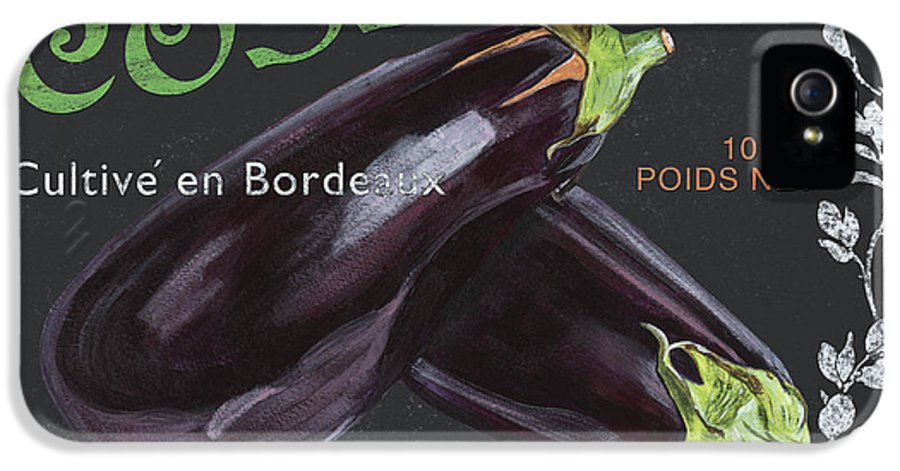 Produce IPhone 5 Case featuring the painting French Veggie Labels 4 by Debbie DeWitt
