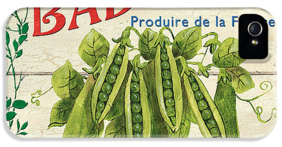 Peas IPhone 5 Case featuring the painting French Veggie Sign 1 by Debbie DeWitt