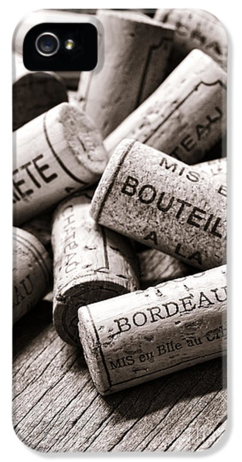 Corks IPhone 5 Case featuring the photograph French Wine Corks by Olivier Le Queinec
