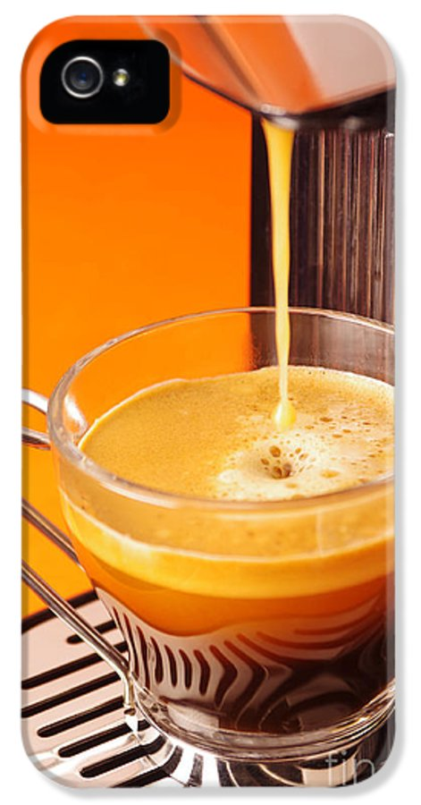 Appliance IPhone 5 Case featuring the photograph Fresh Espresso by Carlos Caetano