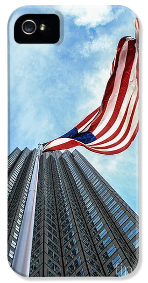 American Flag IPhone 5 / 5s Case featuring the photograph From A Different Perspective by Rene Triay Photography