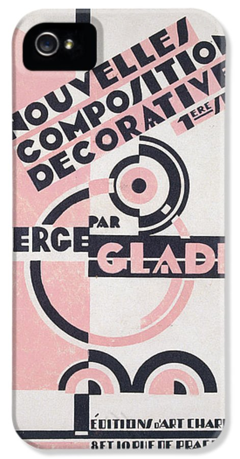 Design IPhone 5 Case featuring the painting Front Cover Of Nouvelles Compositions Decoratives by Serge Gladky