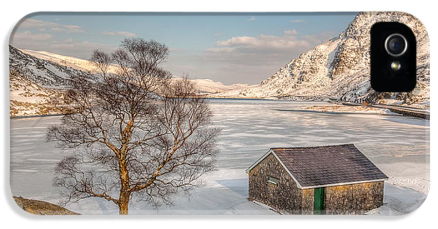 Architecture IPhone 5 Case featuring the photograph Frozen Lake Ogwen by Adrian Evans