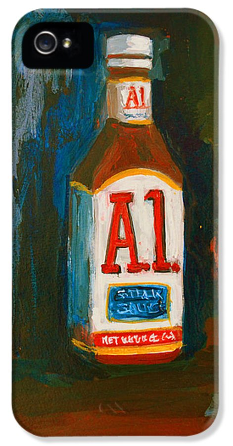 Acrylic IPhone 5 Case featuring the painting Full Flavored - A.1 Steak Sauce by Patricia Awapara