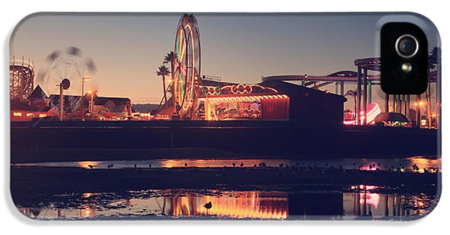 Santa Cruz Beach Boardwalk IPhone 5 Case featuring the photograph Fun And Games by Laurie Search