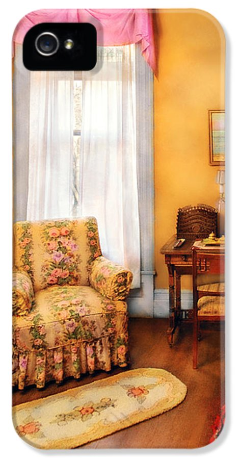Savad IPhone 5 Case featuring the photograph Furniture - Chair - Livingrom Retirement by Mike Savad