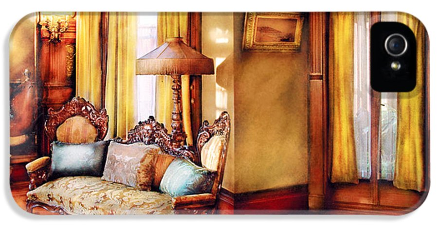 Savad IPhone 5 Case featuring the photograph Furniture - Chair - The Queens Parlor by Mike Savad