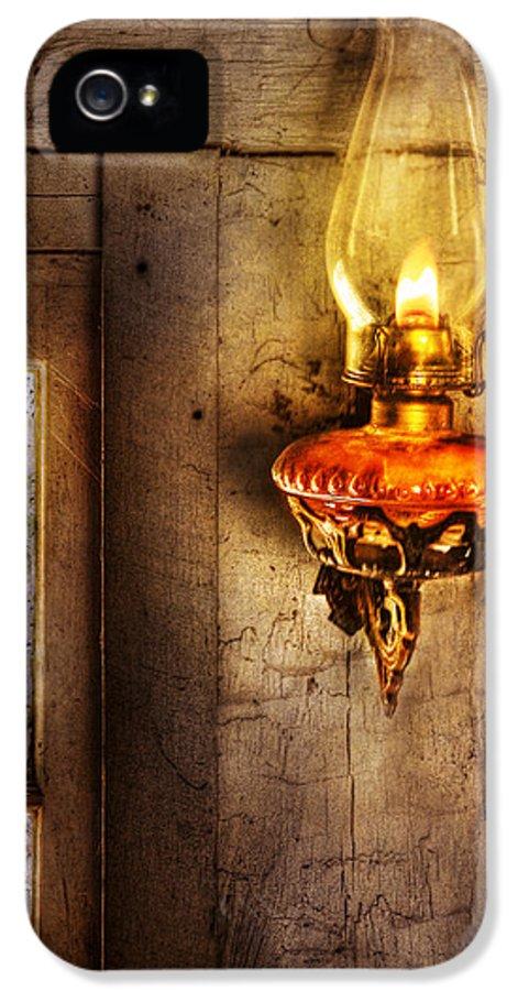 Savad IPhone 5 Case featuring the photograph Furniture - Lamp - Kerosene Lamp by Mike Savad