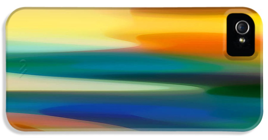 Fury IPhone 5 Case featuring the painting Fury Seascape II by Amy Vangsgard