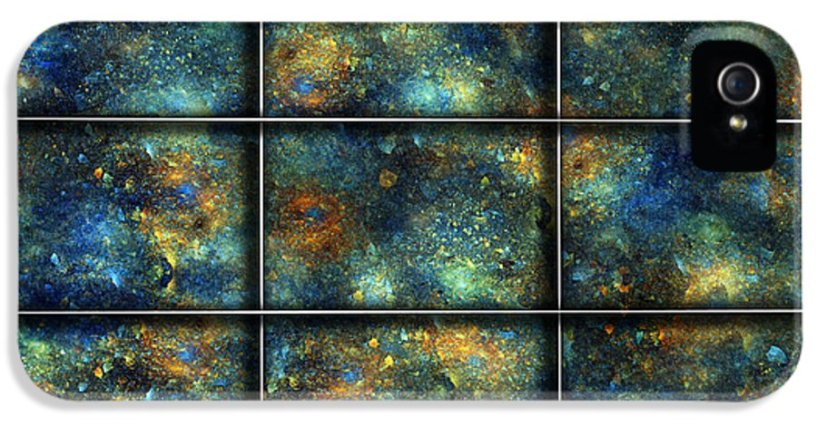 Star IPhone 5 Case featuring the digital art Galaxies II by Betsy Knapp
