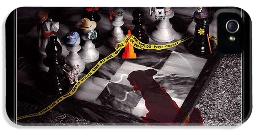 Savad IPhone 5 Case featuring the photograph Game - Chess - It's Only A Game by Mike Savad