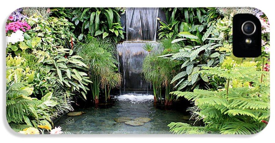 Garden IPhone 5 Case featuring the photograph Garden Waterfall by Carol Groenen