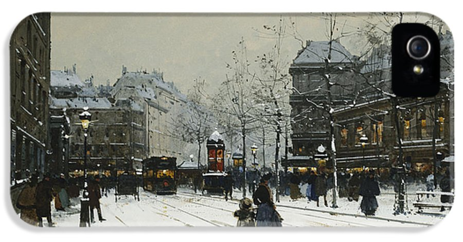 Child IPhone 5 Case featuring the painting Gare Du Nord Paris by Eugene Galien-Laloue