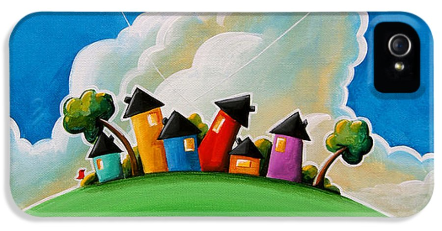 House IPhone 5 Case featuring the painting Gather Round by Cindy Thornton
