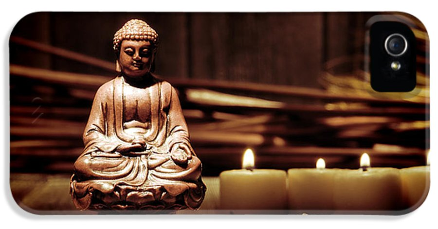 Meditation IPhone 5 Case featuring the photograph Gautama Buddha by Olivier Le Queinec