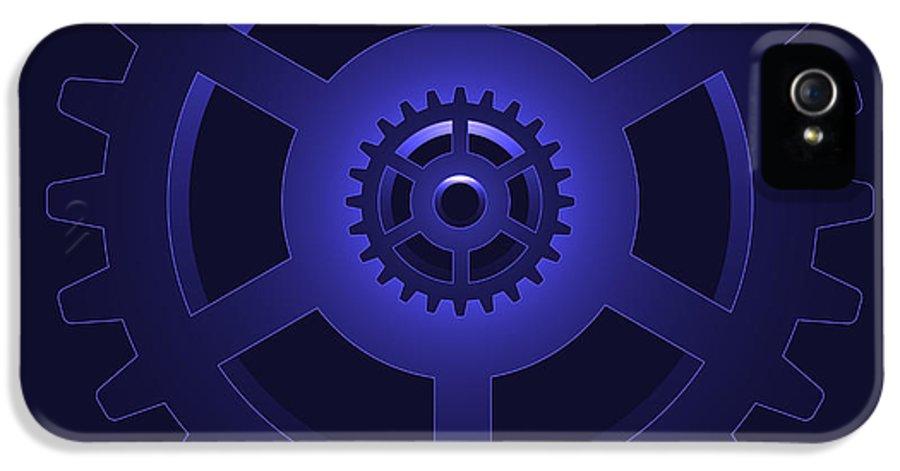 Vector IPhone 5 Case featuring the digital art Gear - Cog Wheel by Michal Boubin