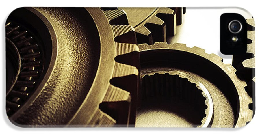 Gearing IPhone 5 Case featuring the photograph Gears by Les Cunliffe