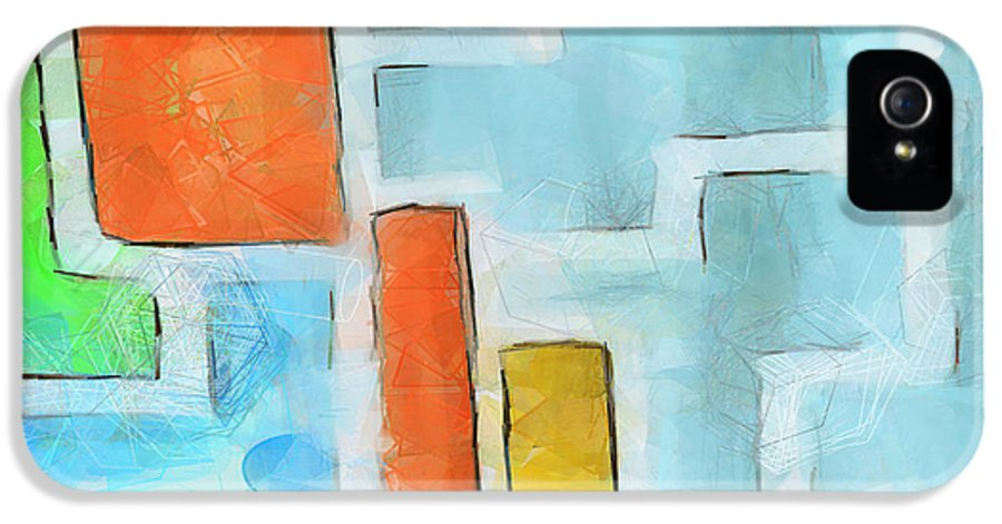 Modern IPhone 5 Case featuring the painting Geometric Abstract by Pixel Chimp
