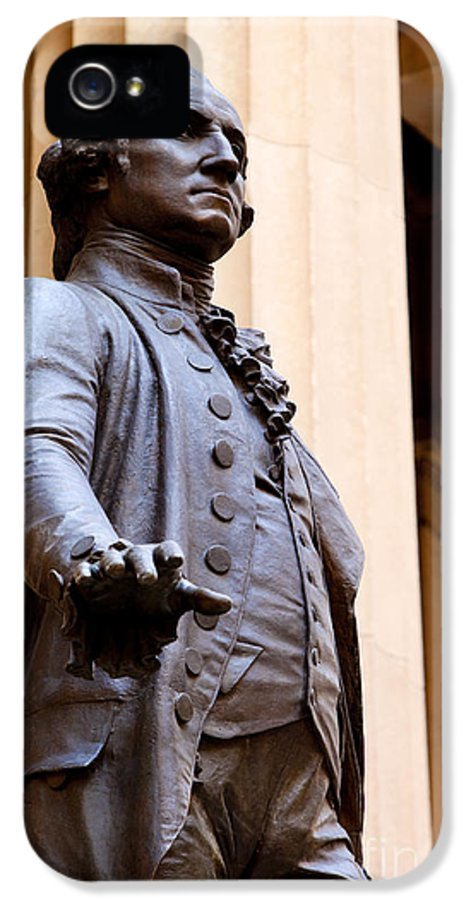 President IPhone 5 Case featuring the photograph George Washington by Brian Jannsen