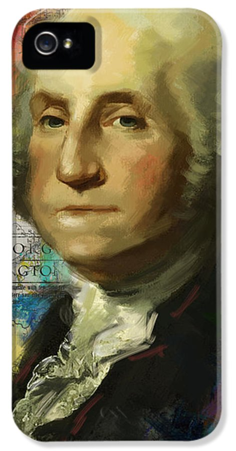 George Washington IPhone 5 Case featuring the painting George Washington by Corporate Art Task Force