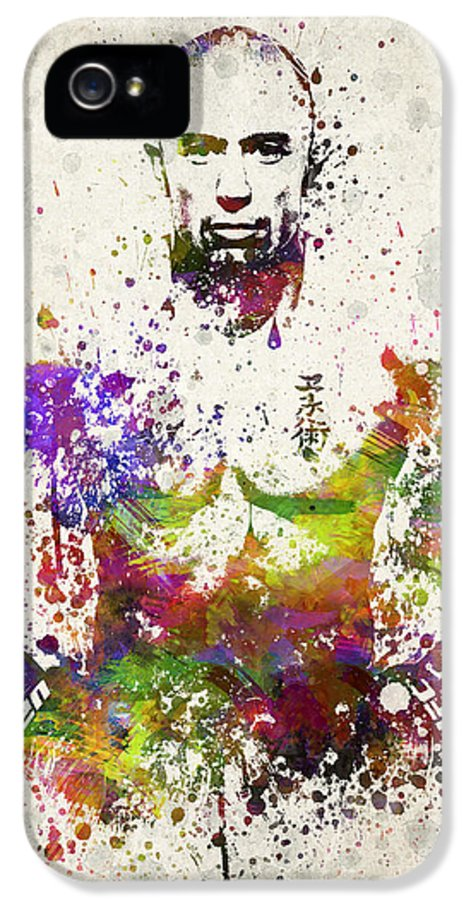 Georges St-pierre IPhone 5 Case featuring the digital art Georges St-pierre by Aged Pixel