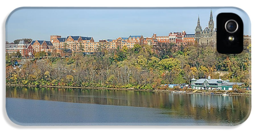 Washington IPhone 5 Case featuring the photograph Georgetown University Neighborhood by Olivier Le Queinec