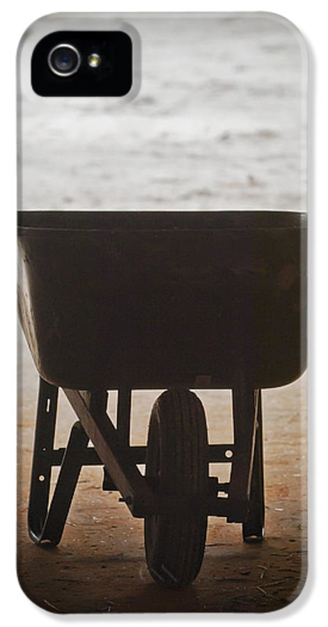 Wheelbarrow IPhone 5 Case featuring the photograph Get Back To Work by Patrick M Lynch