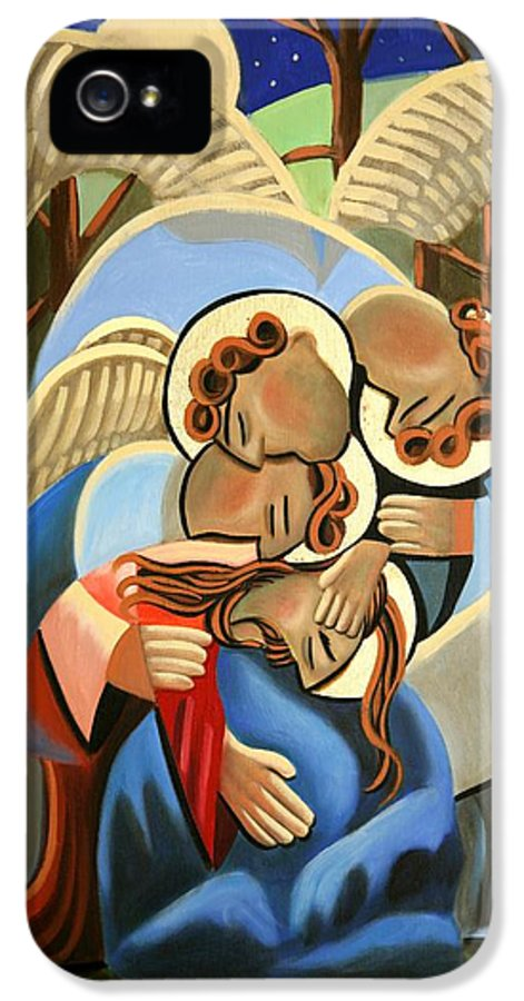 Jgethsemane The Hour Is Near IPhone 5 Case featuring the painting Gethsemane The Hour Is Near by Anthony Falbo