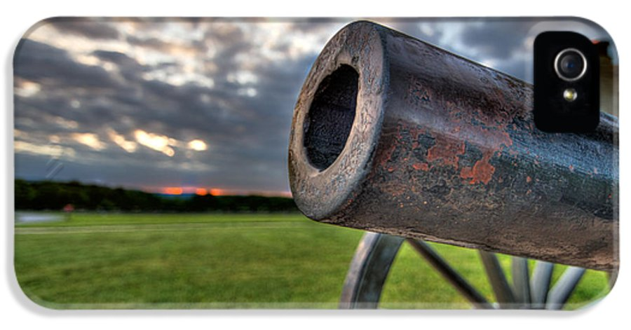 Abraham IPhone 5 Case featuring the photograph Gettysburg Canon Closeup by Andres Leon