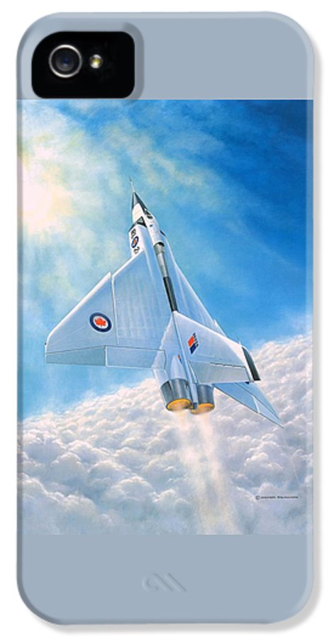 Avro Arrow IPhone 5 Case featuring the painting Ghost Flight Rl206 by Michael Swanson