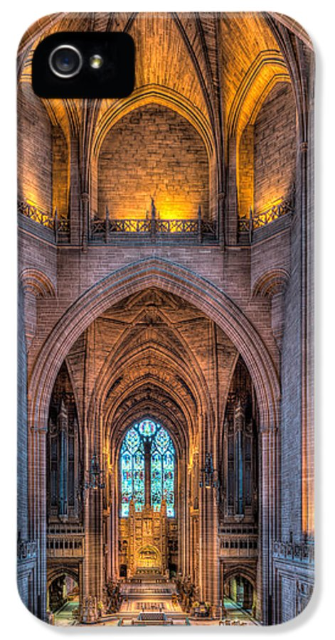 Aisle IPhone 5 Case featuring the photograph Ghost In The Cathedral by Adrian Evans