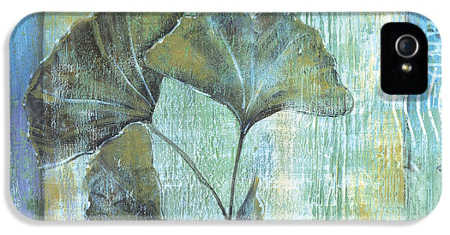 Ginkgo IPhone 5 Case featuring the painting Gingko Spa 2 by Debbie DeWitt