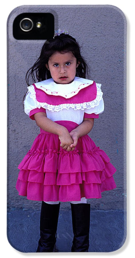 Juarez IPhone 5 Case featuring the photograph Girl In Pink Dress by Mark Goebel