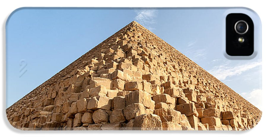 Africa IPhone 5 Case featuring the photograph Giza Pyramid Detail by Jane Rix