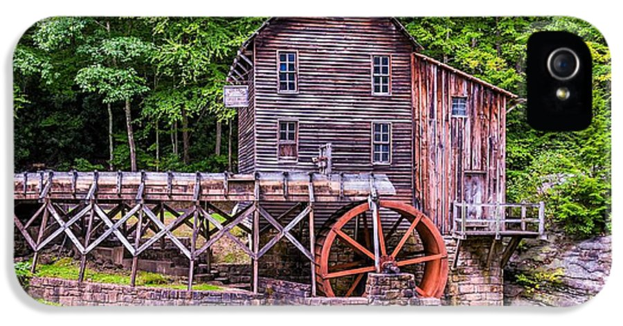 Mill IPhone 5 Case featuring the photograph Glade Creek Grist Mill by Steve Harrington