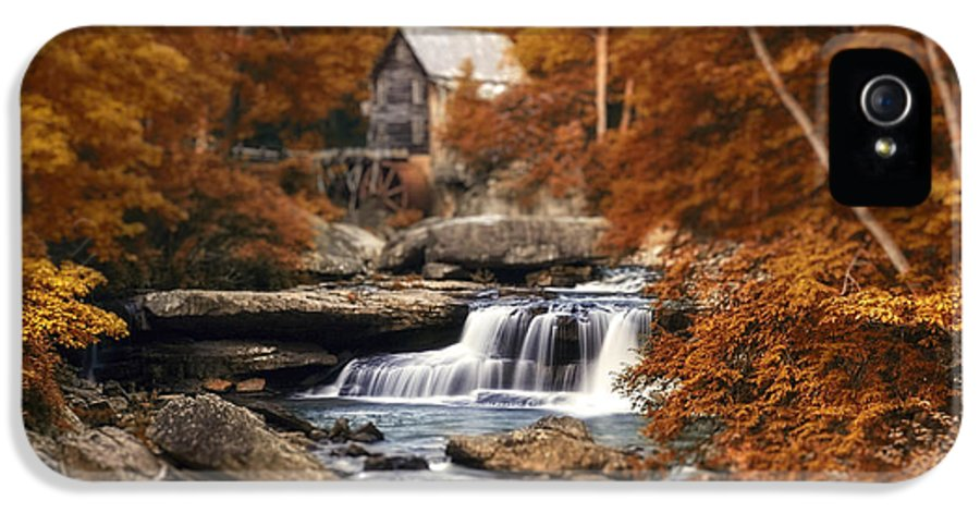 Fall IPhone 5 Case featuring the photograph Glade Creek Mill Selective Focus by Tom Mc Nemar