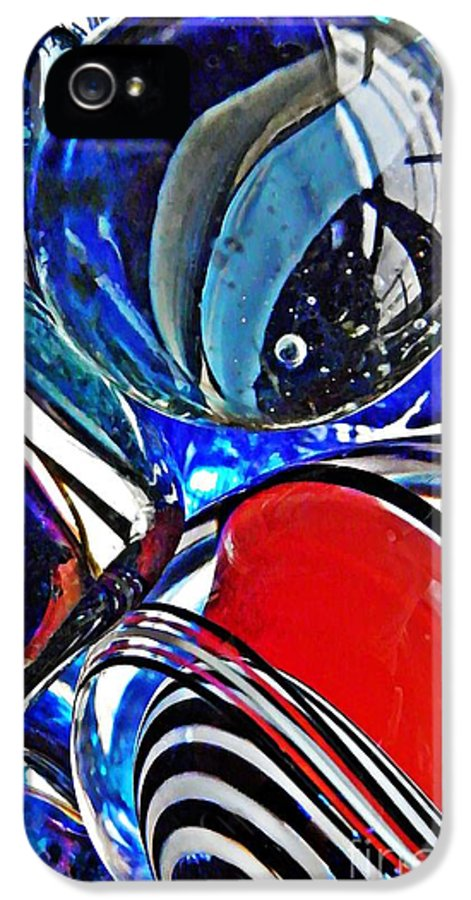 Abstract IPhone 5 Case featuring the photograph Glass Abstract 507 by Sarah Loft