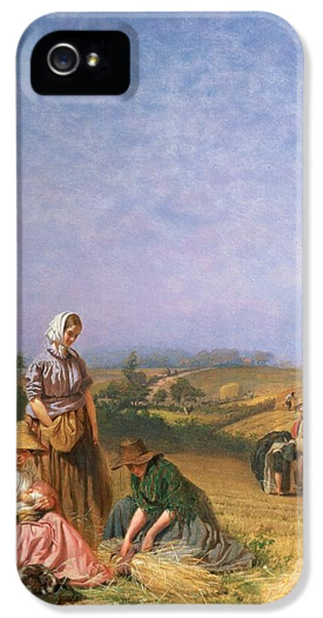Children IPhone 5 Case featuring the painting Gleaning by George Elgar Hicks