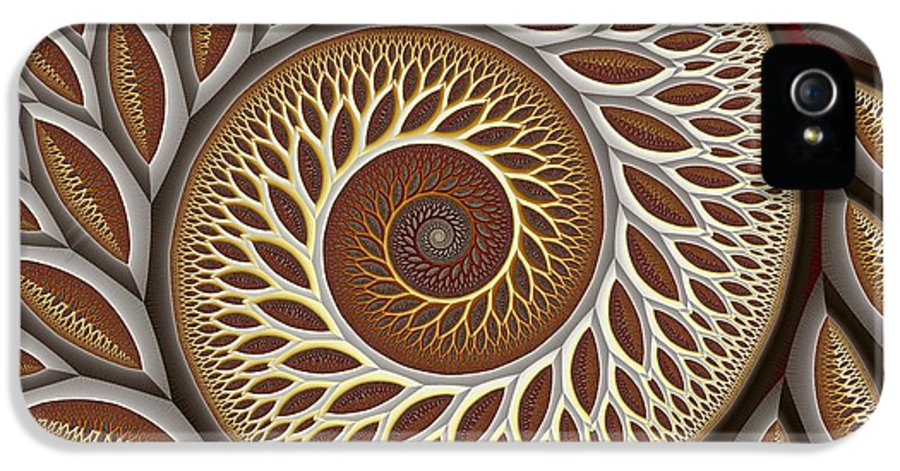 Abstract IPhone 5 Case featuring the digital art Glynn Spiral No. 2 by Mark Eggleston